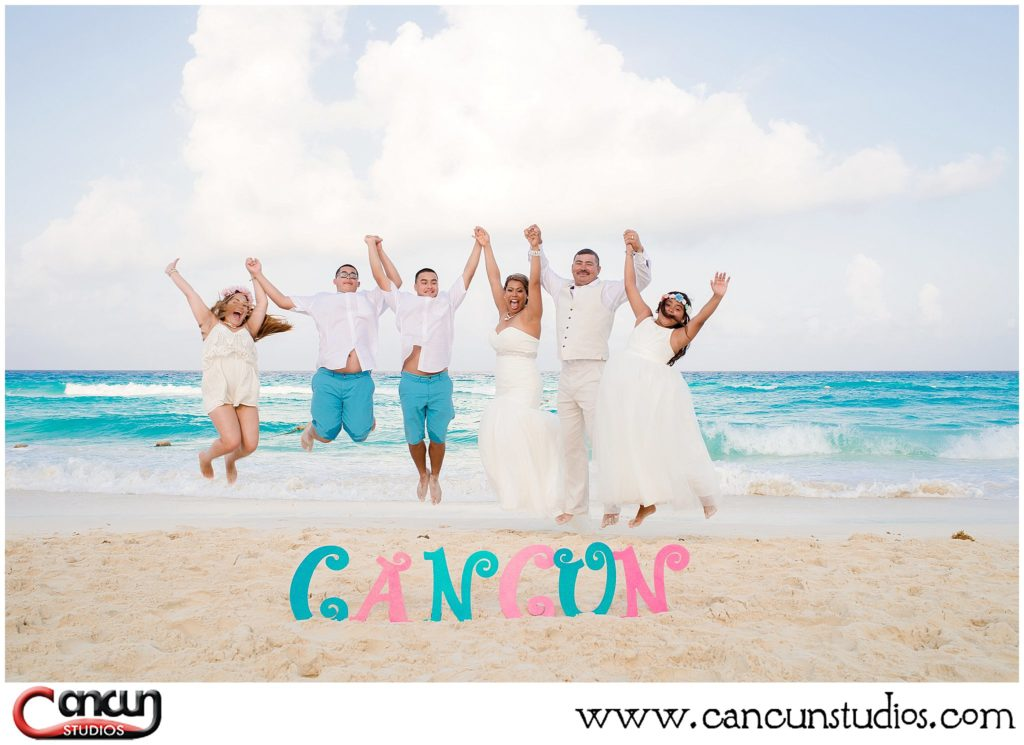 Cancun Beach Photo Session with props