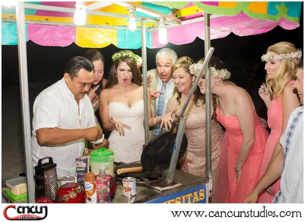 Marquesitas cart at Cancun Wedding
