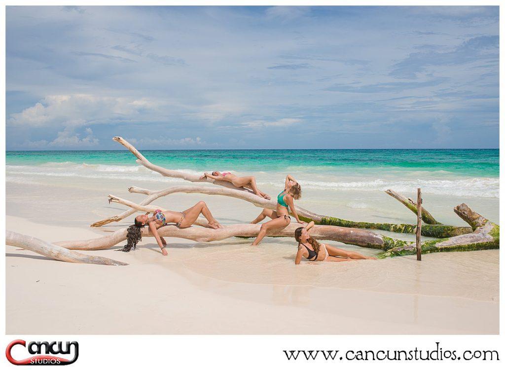Bikini photo shoot in Cancun