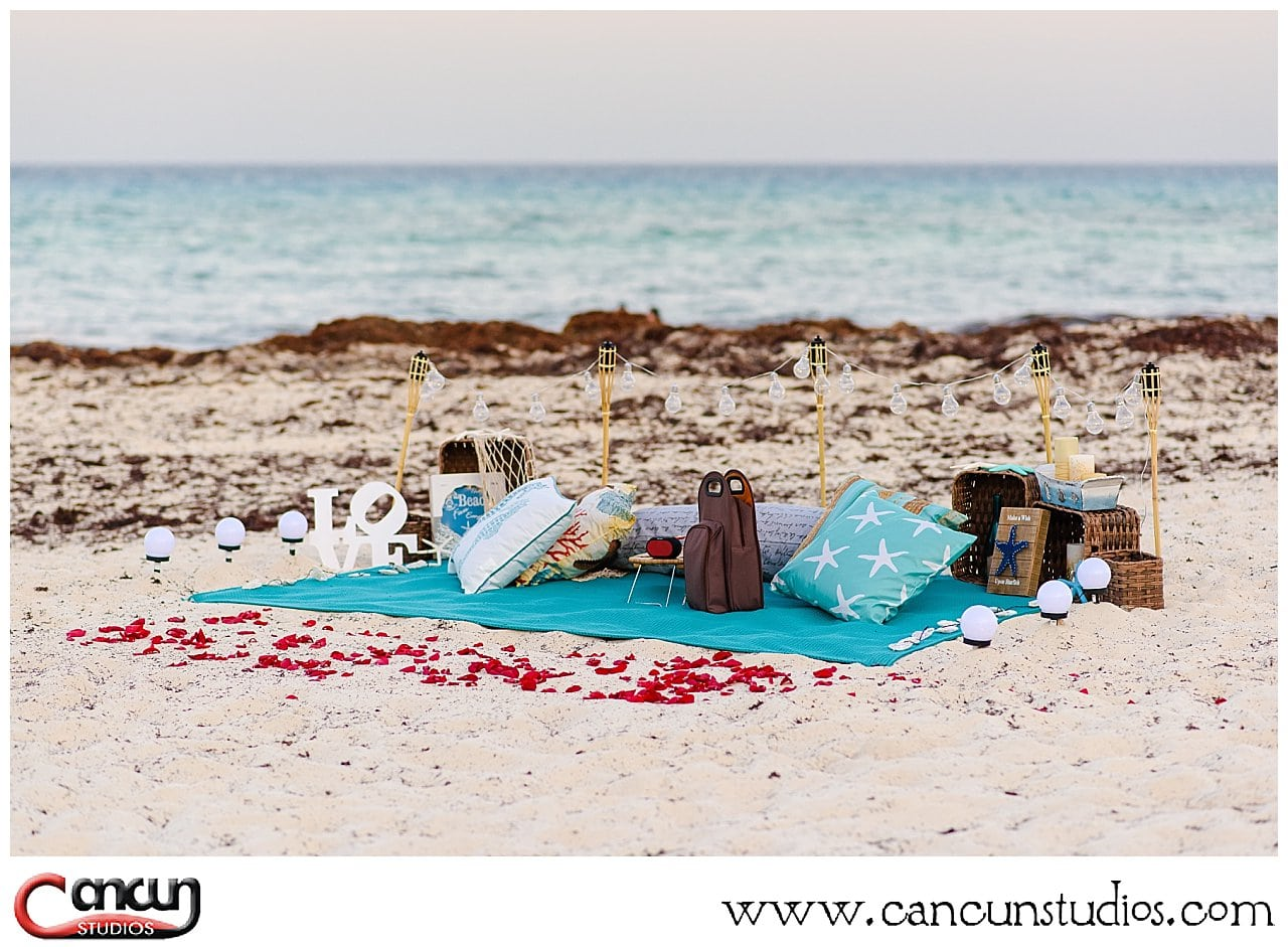 Cancun Picnic on the beach - Starfish theme